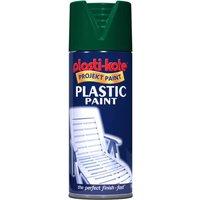 Plastikote Gloss Plastic Aerosol Spray Paint Hunter Green 400ml