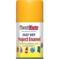 Plastikote Dry Enamel Aerosol Spray Paint Sunshine Yellow 100ml