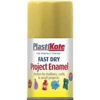 Plastikote Dry Enamel Aerosol Spray Paint Gold Leaf 100ml