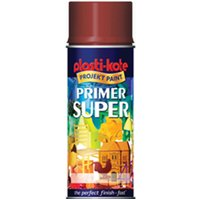 Plastikote Super Enamel Primer Aerosol Spray Paint Grey 400ml