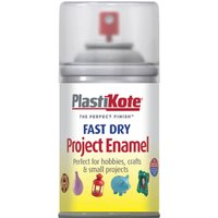 Plastikote Dry Enamel Aerosol Spray Paint Clear 100ml