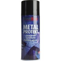 Plastikote Metal Protekt Aerosol Spray Paint Gloss Black 400ml