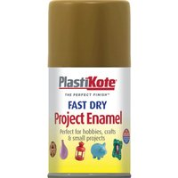Plastikote Dry Enamel Aerosol Spray Paint Anitque Gold 100ml