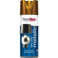 Plastikote Brilliant Metallic Aerosol Spray Paint Copper 400ml