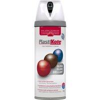 Plastikote Premium Gloss Aerosol Spray Paint White 400ml
