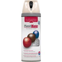 Plastikote Premium Gloss Aerosol Spray Paint Antique White 400ml