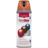 Plastikote Premium Gloss Aerosol Spray Paint Orange 400ml