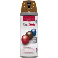Plastikote Premium Gloss Aerosol Spray Paint Chestnut Brown 400ml