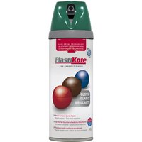 Plastikote Premium Gloss Aerosol Spray Paint Lawn Green 400ml
