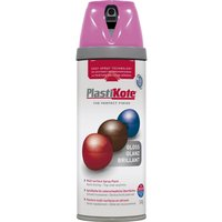 Plastikote Premium Gloss Aerosol Spray Paint Pink Burst 400ml