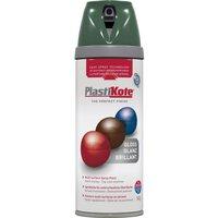 Plastikote Premium Gloss Aerosol Spray Paint Luscious Green 400ml