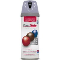 Plastikote Premium Gloss Aerosol Spray Paint Aluminium 400ml
