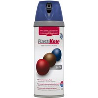 Plastikote Premium Satin Aerosol Spray Paint Night Navy 400ml
