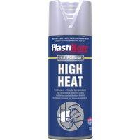 Plastikote High Heat Aerosol Spray Paint Aluminium 400ml