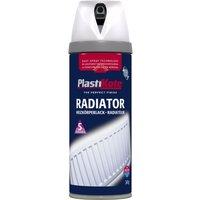 Plastikote Radiator Aerosol Spray Paint Satin White 400ml
