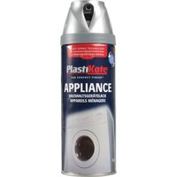 Plastikote Appliances Aerosol Spray Paint Satin Chrome 400ml