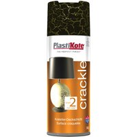 Plastikote Crackle Touch Aerosol Spray Paint Black 400ml