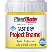 Plastikote Fast Dry Enamel Aerosol Spray Paint Buttercup Yellow 59ml