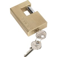 Sealey Heavy Duty Brass Shutter Padlock 76mm Standard