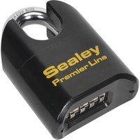 Sealey Steel Combination Padlock Shrouded Shackle 62mm Standard