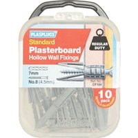 Plasplugs Plasterboard Hollow Wall Fixings Pack of 10