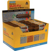 Plasplugs Heavy Duty Multifix Concrete & Brick Fixings Pack of 2000