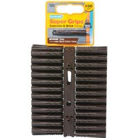 Plasplugs Heavy Duty Super Grips Concrete & Brick Fixings Pack of 100
