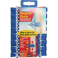 Plasplugs Heavy Duty Plasterboard Hollow Wall Fixings Pack of 30
