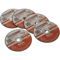 Sealey Metal Cutting Disc for Stainless Steel 75mm 2mm Pack of 5