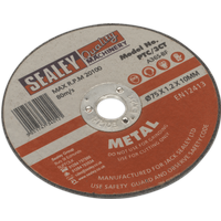 Sealey Metal Cutting Disc for Stainless Steel 75mm 1 2mm Pack of 1
