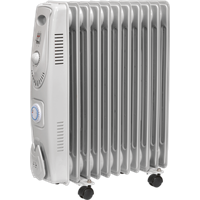 Sealey RD2500T Oil Filled Radiator with Thermostat and Timer 240v