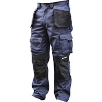 "Roughneck Mens Holster Trousers Black / Blue 34"" 31"""