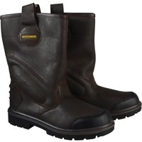 Roughneck Mens Hurricane Rigger Safety Boots Dark Brown Size 6