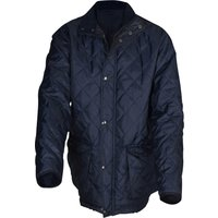 Roughneck Mens Quilted Jacket Blue L