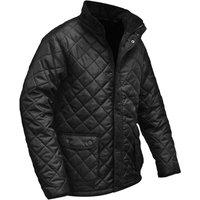 Roughneck Mens Quilted Jacket Black L