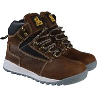 Roughneck Mens Sabre Safety Boots Brown Size 10
