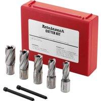 Rotabroach 5 Piece Raptor Mag Drill Cutter Set