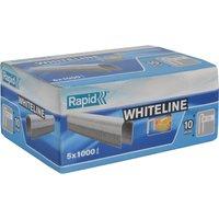 Rapid 28 White Staples 10mm Pack of 5000