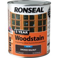 Ronseal 5 Year Woodstain Smoked Walnut 750ml