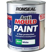 Ronseal Anti Mould Paint White Matt 2.5l