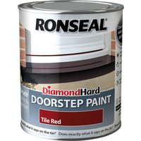 Ronseal Diamond Hard Door Step Paint Tile Red 750ml
