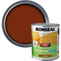 Ronseal Hardwood Furniture Stain Rich Teak 750ml