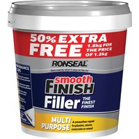 Ronseal Smooth Finish Multi Purpose Interior Wall Ready Mix Filler 1.8kg