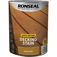 Ronseal Quick Drying Decking Stain 5l Oak