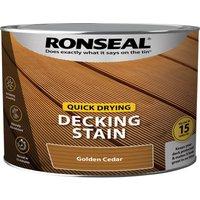 Ronseal Quick Drying Decking Stain 2.5l Golden Cedar