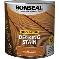 Ronseal Quick Drying Decking Stain 2.5l Rich Mahogany