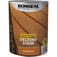 Ronseal Quick Drying Decking Stain 5l Rich Mahogany