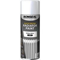 Ronseal One Coat Radiator Aerosol White 400ml