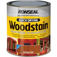 Ronseal Quick Dry Satin Woodstain Smoked Walnut 750ml