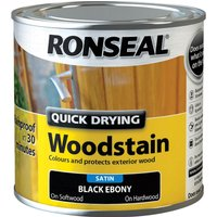 Ronseal Quick Dry Satin Woodstain Ebony 250ml
